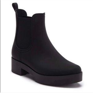 Jeffrey Campbell black rain bootie size 10